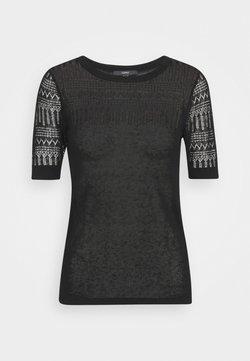 Esprit Collection - STRUCTURED - Camiseta estampada - black