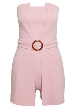 Missguided - BANDEAU BELTED PLAYSUIT - Combinaison - pink