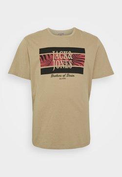 Jack & Jones - JORBOOSTER TEE CREW NECK - T-shirt imprimé - crockery
