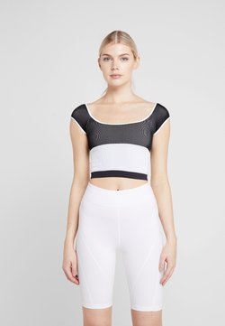 Free People - FP MOVEMENT SEAMLESS BLOCK PARTY TEE - Toppi - black/white