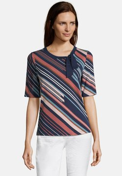 Betty Barclay - MIT MUSTER - T-Shirt print - dark blue/blue