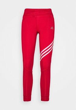 adidas Performance - RUN IT 3-STRIPES 7/8 LEGGINGS - Tights - scarlett
