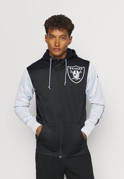 Nike Performance - NFL OAKLAND RAIDERS LEFT CHEST MASCOT FULL-ZIP THERMA HOODI - Article de supporter - black/field silver