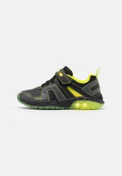 Geox - SPAZIALE BOY - Sneaker low - black/lime