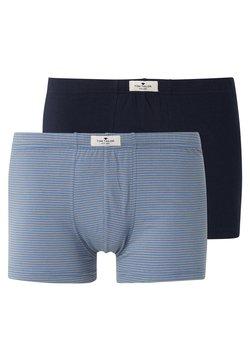 TOM TAILOR - 2 PACK - Shorty - blue medium horizontal stripe