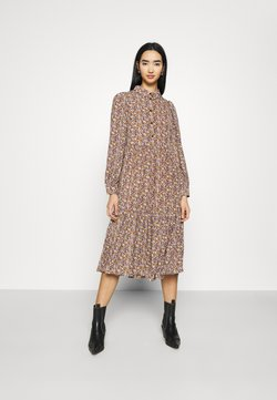 Pieces - PCANJA DRESS - Freizeitkleid - black/brown