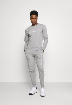 CLOSURE London - SCRIPT CREWNECK TRACKSUIT SET - Sweatshirt - grey marl