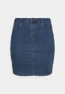 Vero Moda Curve - VMHOT PENCIL SKIRT - Minirock - medium blue denim