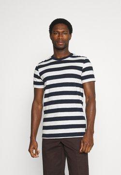 TOM TAILOR DENIM - STRIPED - T-Shirt print - navy