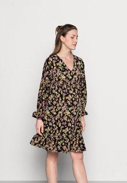 MAMALICIOUS - MLEMRA WOVEN DRESS  - Freizeitkleid - black/snow white / fall leaf /dewberry