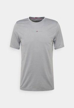 Tommy Hilfiger - SHOULDER LOGO SLIM TRAINING TEE - T-Shirt print - grey