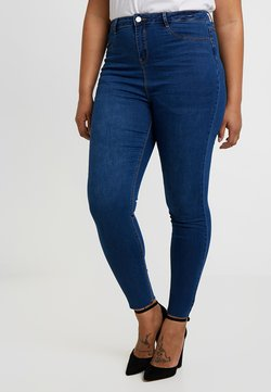 Missguided Plus - LAWLESS HIGHWAISTED SUPERSOFT - Jeans Skinny - blue