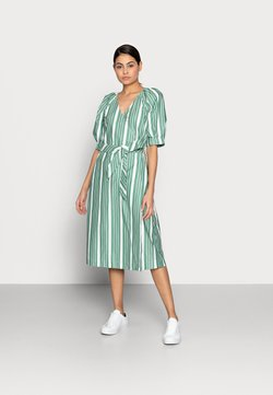 esmé studios - WRAP AROUND DRESS - Korte jurk - frosty spurce/snow white