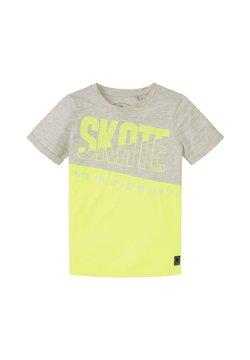 TOM TAILOR - MIT SCHRIFT-PRINT - T-shirt print - light grey/ yellow/grey