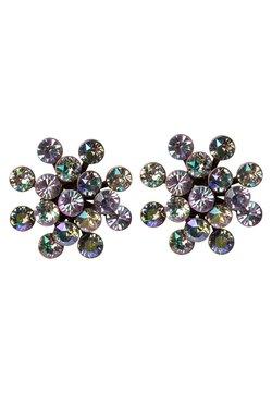Konplott - MAGIC FIREBALL - Earrings - yellow/lila antique/silver-coloured