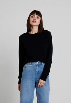 Samsøe Samsøe - BOSTON O NECK - Stickad tröja - black