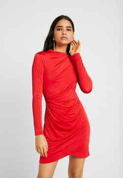 Nly by Nelly - DRAPE NECK DRESS - Vestido de cóctel - red