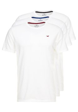 Hollister Co. - CREW CHAIN 3 PACK - Basic T-shirt - white