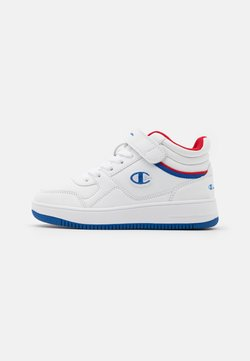 Champion - MID CUT SHOE REBOUND VINTAGE UNISEX - Zapatillas de baloncesto - white/royal blue/red