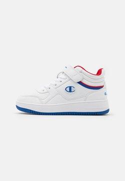 Champion - MID CUT SHOE REBOUND VINTAGE UNISEX - Basketball shoes - white/royal blue/red