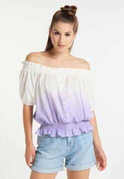 myMo - Bluse - weiss flieder