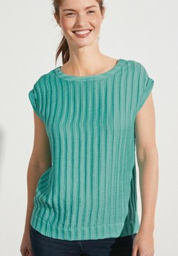 Next - BOXY - T-Shirt print - light blue