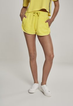 Urban Classics - LADIES TOWEL HOT PANTS - Jogginghose - brightyellow