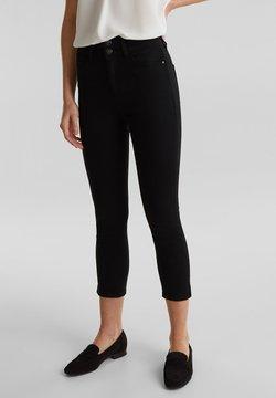 Esprit Collection - SHAPING-CAPRI MIT BREITEM 2-KNOPF-BUND - Slim fit jeans - black rinse