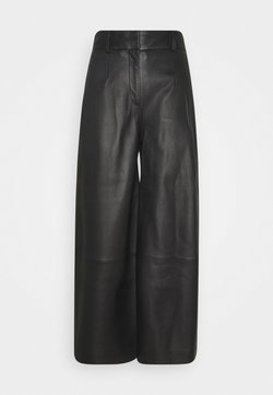 IVY & OAK - CULOTTE - Leather trousers - black