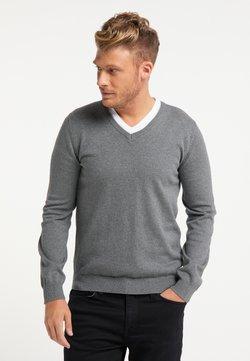 Mo - Stickad tröja - dunkelgrau melange