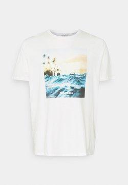 Jack & Jones - JORAZURE TEE CREW NECK - Print T-shirt - cloud dancer