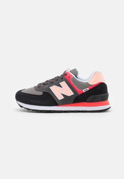 New Balance - WL574 - Matalavartiset tennarit - black/pink