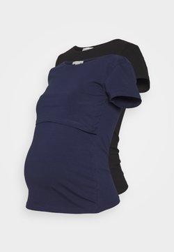 Anna Field MAMA - NURSING 2er PACK - Basic T-shirt - T-shirts - dark blue/black