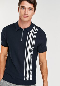 Next - VERTICAL STRIPE  - Poloshirt - dark blue