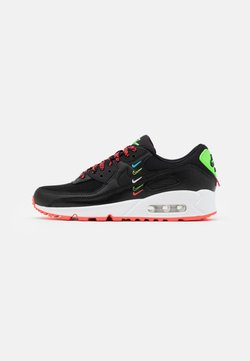Nike Sportswear - AIR MAX 90 - Sneaker low - black/flash crimson/green strike/white