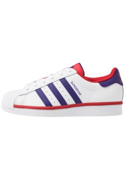 adidas Originals - SUPERSTAR - Sneakers laag - footwear white/purple/scarlet