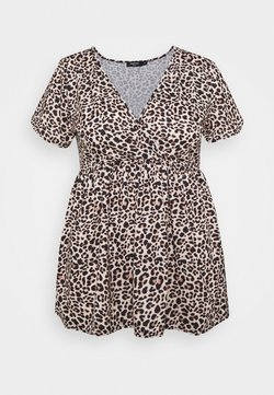 CAPSULE by Simply Be - WRAP SWING TUNIC - Langærmede T-shirts - animal
