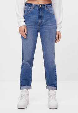 Bershka - MIT UMSCHLAG  - Jeans Relaxed Fit - blue