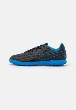 Nike Performance - JR TIEMPO LEGEND 8 CLUB TF UNISEX - Fotbollsskor universaldobbar - black/light photo blue/cyber
