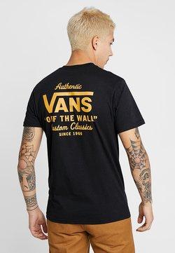 Vans - MN HOLDER STREET II - Printtipaita - black/old gold