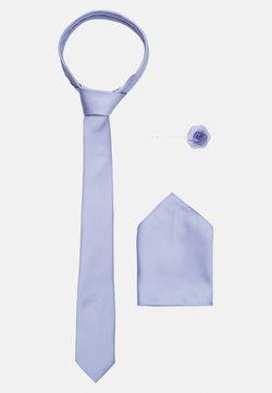 Burton Menswear London - WEDDING PLAIN WITH MATCHING FLOWER PIN SET - Tie - purple
