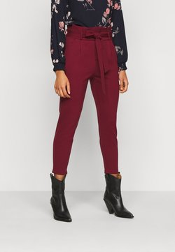 Vero Moda Petite - VMEVA LOOSE PAPERBAG PANT - Spodnie materiałowe - cabernet