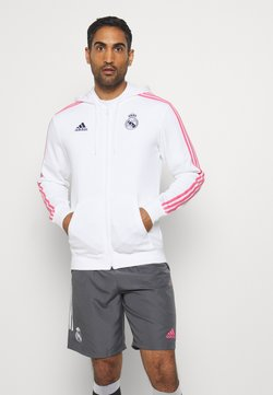 adidas Performance - REAL MADRID SPORTS FOOTBALL HOODED JACKET - Article de supporter - white/dark blue