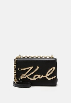 KARL LAGERFELD - SIGNATURE SMALL SHOULDERBAG - Torba na ramię - black/gold