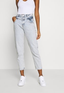 Miss Selfridge - FRILL POCKET MOM  - Relaxed fit jeans - light blue