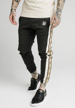 SIKSILK - PREMIUM TAPE TRACK PANT - Jogginghose - black/off white