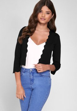 Lipsy - SCALLOP SHRUG - Vest - black