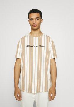 Kings Will Dream - ALVERTON STRIPE TEE - T-Shirt print - ecru/sand