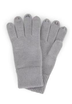TOM TAILOR - MIT LOGO-BADGE - Fingerhandschuh - knit grey melange