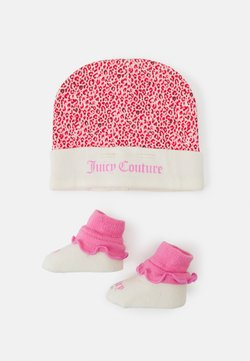 Juicy Couture - BABY LEOPARD HAT & BOOTIE SET - Pipo - wild orchid